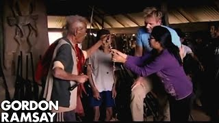 Chef meets a tribal headhunter over breakfast - Gordon Ramsay's Great Escape