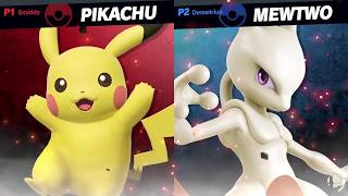 PIKACHU vs. MEWTWO ~ Smash Bros. Ultimate [GAMEPLAY]