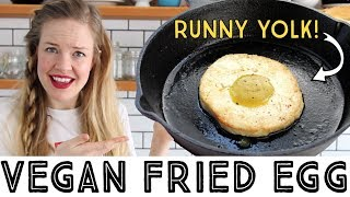 Vegan Fried Egg - with a runny vegan egg yolk!