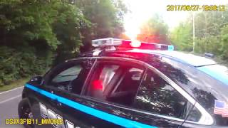 Police body camera footage shows the situation leading up to the arrest of Put-in-Bay resident Keith
