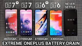 EXTREME OnePlus BATTERY DRAIN TEST - OnePlus 7T vs OnePlus 7 vs OnePlus 6T vs OnePlus 6!