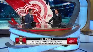 NHL Tonight:  Yzerman`s To-Do List:  What does Yzerman need to do to improve Detroit  Apr 19,  2019