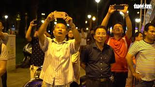 Linh cữu cố Thủ tướng Phan Văn Khải về tới Hội trường Thống Nhất