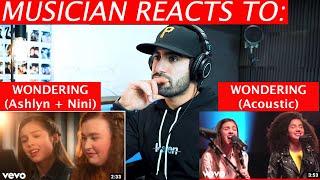 Wondering (Ashlynn & Nini Piano + Acoustic) | Musician's Reaction | Olivia Rodrigo, Julia Lester