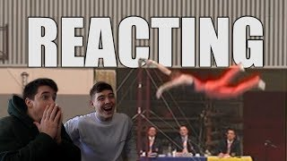 REACTING TO OUR OLD GYMNASTICS VIDEOS