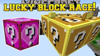 Minecraft: ULTIMATE LUCKY BLOCK RACE!! - Lucky Block Collecting - Custom Map [2]