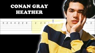 Conan Gray - Heather (Easy Guitar Tabs Tutorial)