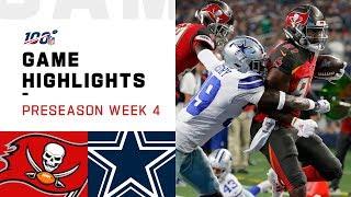 Buccaneers vs. Cowboys Preseason Week 4 Highlights   NFL 2019