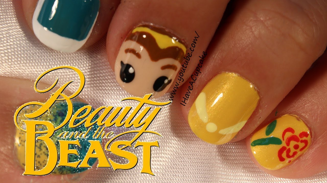 Belle Beauty And The Beast Nail Art Youtube