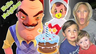 Hello Neighbor in Real Life in the Dark + Mart Takes our Zombie Elf for His Birthday (SKIT) DavidsTV