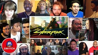 Live Reaction: CYBERPUNK 2077 at Xbox E3 2018 Conference | 17+ Youtubers Synched Compilation