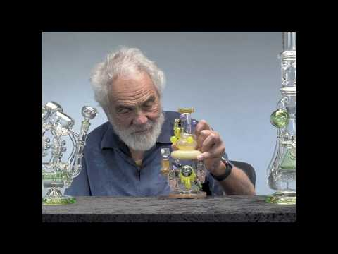 Tommy Chong's evaluation and use of big heavy glass pipe dab rig.