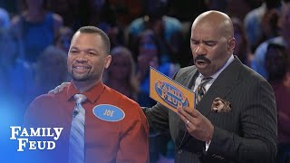 Steve's in SHOCK! Don't miss this FAST MONEY! | Family Feud