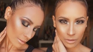 How to: TOP KNOT & Sultry Gold Smokey Eye - Desi Perkins