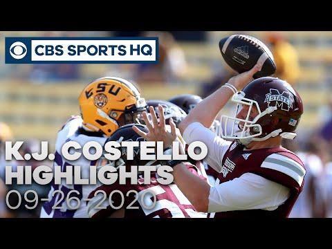 K.J. Costello Highlights: Mississippi State vs. LSU Tigers | 09-26-2020 | CBS Sports HQ