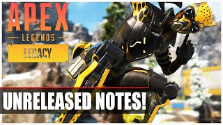 Apex Legends Legacy - Unreleased Patch Notes - Buffs/Nerfs (All reported Changes!)
