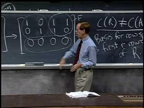 Baixar Lec 10 | MIT 18.06 Linear Algebra, Spring 2005