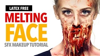 Melting face Halloween makeup tutorial