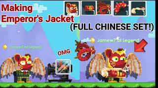 Making Emperor's Jacket! + (FULL CHINESE SET!) OMG!! - Growtopia