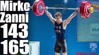 Mirko Zanni (69kg) 143kg Snatch 165kg Clean and Jerk - 2018 European Championship