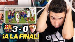 REACCIONANDO al Barcelona vs Sevilla 3-0 *REMONTADA ÉPICA*