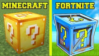 MINECRAFT VS FORTNITE: LUCKY BLOCK CHALLENGE!
