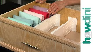 How to organize your dresser drawers and fold clothes