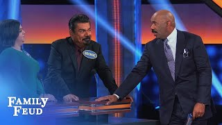 Where you goin' with this George? | Celebrity Family Feud