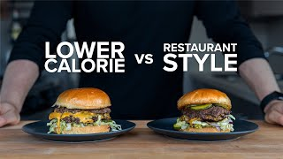 How to make a Lower Calorie Smash Burger that still tastes good.