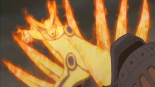 Naruto and Kyuubi (Kurama) vs Tailed Beasts Full Fight Eng Sub