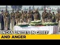 Hundreds Gather To Pay Tributes As Bodies Of CRPF Soldiers Reach Homes