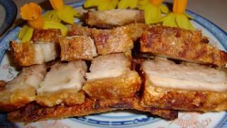 Hong kong crispy roasted pork belly (Siu Yuk) 脆皮燒肉