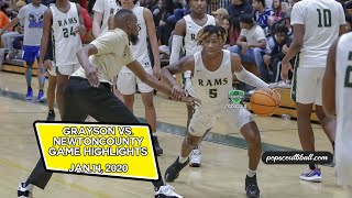 Grayson takes no prisoners in the win against Newton County on Jan 14, 2020.  Full Game Highlights.