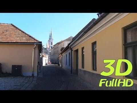 [3DHD] Walking Tour/Gyalogtúra: Watertown / Víziváros, Esztergom, Hungary / Magyarország