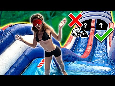 TRY NOT TO Slide Down The WRONG WATER SLIDE!!