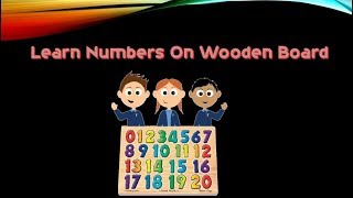Learn Numbers On Wooden Board