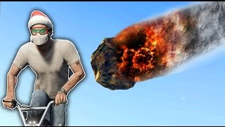 Outrun The Meteors Challenge! GTA 5 Mods and Challenges!