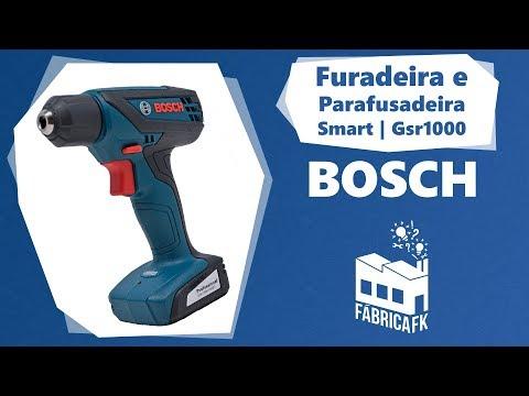 Furadeira e Parafusadeira 12V GSR1000 Smart Bosch - Bivolt - Vídeo explicativo