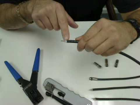 How To Prep Coaxial Cable And Install A Compression