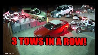 1 Hour, 2 Tow-trucks, 3 Cars Towed!