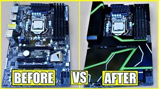 How to Make A DIY Acrylic Motherboard Armor + Paint The Plexiglass
