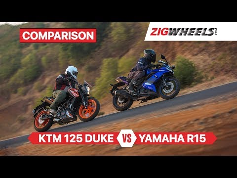 Yamaha YZF-R15 v3.0 vs KTM 125 Duke & Battle of Sporty Beginner Bikes
