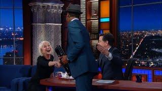 Helen Mirren Carnival Barks Jon Batiste (And Kisses Stephen Again)