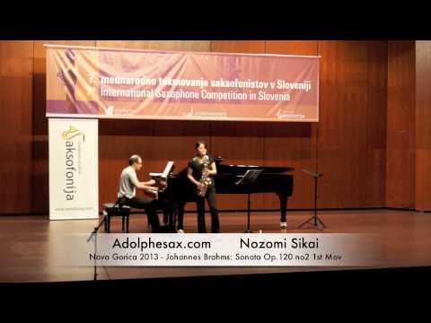 Nozomi Sikai - Nova Gorica 2013 - Johannes Brahms: Sonata Op 120 no2 1st Mov