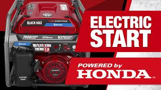 Photo: 7500 Watt Bluetooth Electric Start Generator Powered By Honda