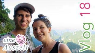 🇨🇳 Tianmen Mountain Glasbrücke - Zhangjiajie China - Weltreise Vlog 18