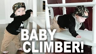 Professional Baby Climber!