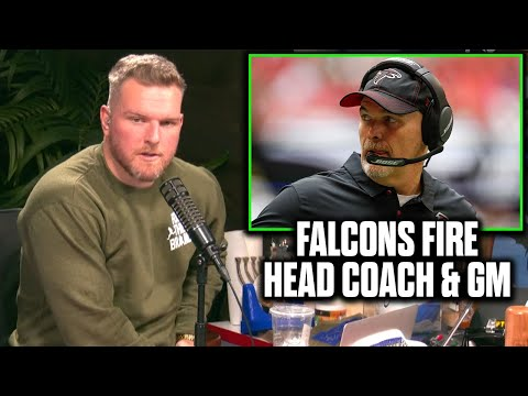 Pat McAfee Reacts To The Falcons Firing Head Coach And GM