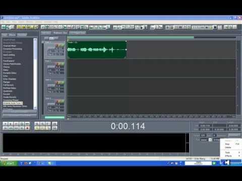 Como masterizar con adobe audition 1.5