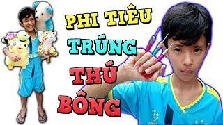 Tony | Thằng Ngáo 6 Ngón Ném Phi Tiêu Trúng THÚ BÔNG - Throw Darts For Stuffed Animal